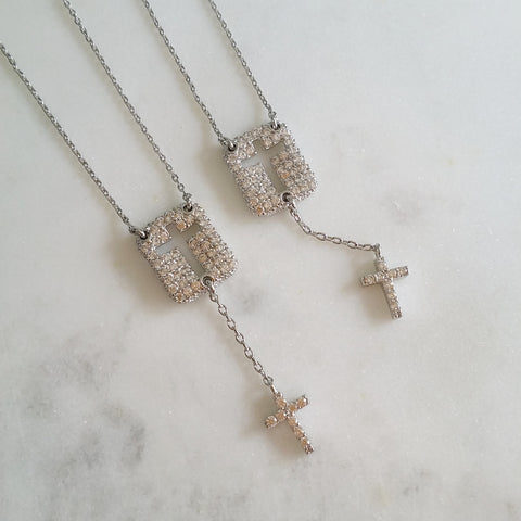 Cross Drop Necklace