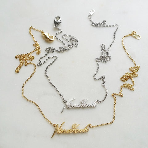 New York (script) Necklace