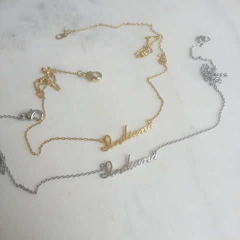 Indiana (script) Necklace