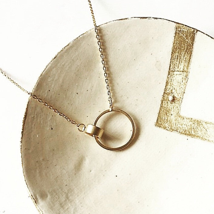 Cylinder Circle Necklace