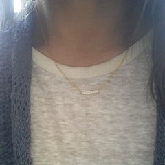 Pave Double Row Bar Necklace