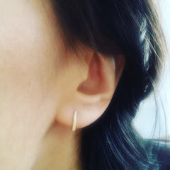 Pave Slim Bar Earrings