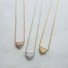 Pave Heart (Trim) Necklace