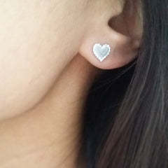 Pave Heart (Trim) Earrings