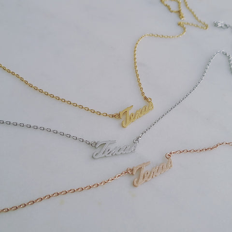 Texas (script) Necklace