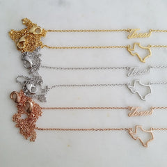 Texas (State) Necklace