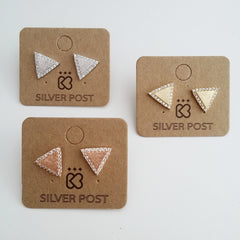 Pave Delta Earrings