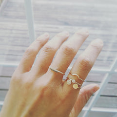 Bandeau Disc Ring