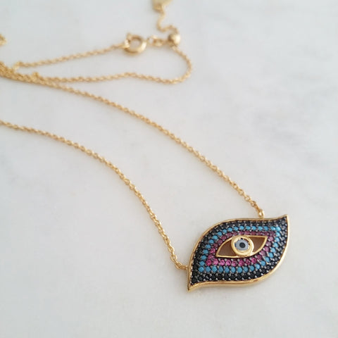 Evil Eye Protect Me Necklace