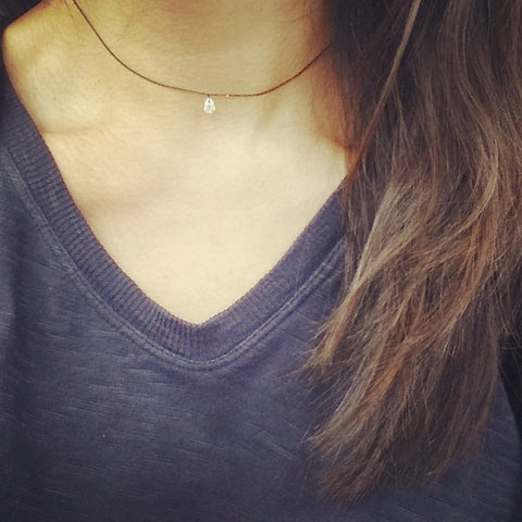 Choker Chain: Crystal Teardrop