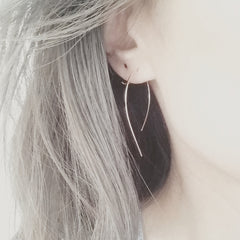 Open Hoop Earrings - Square