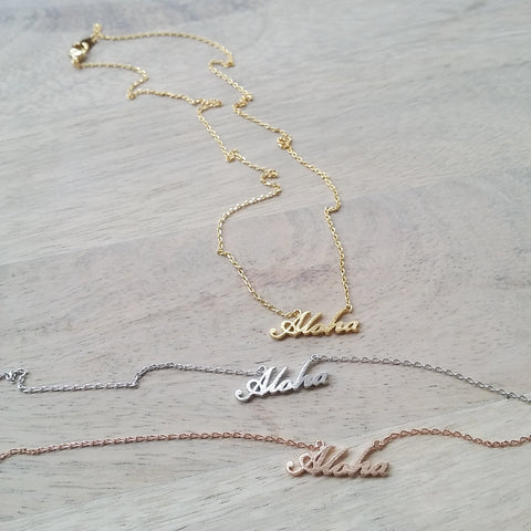 Aloha (script) Necklace