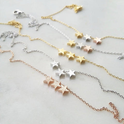 Triple Star Cluster Necklace