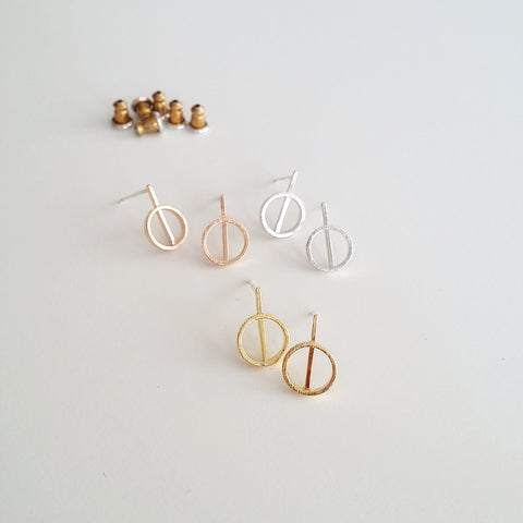 Circle Drip Earrings