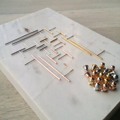 Bar Matchstick Earrings - Large