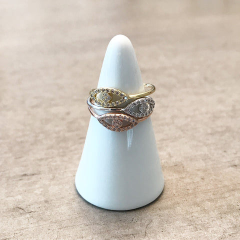 Pave Evil Eye Ring