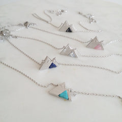 Mountain Range Gemstone Necklace