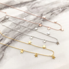 Mini Stars (Dangle) Necklace