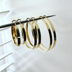 Solid Flat Hoops