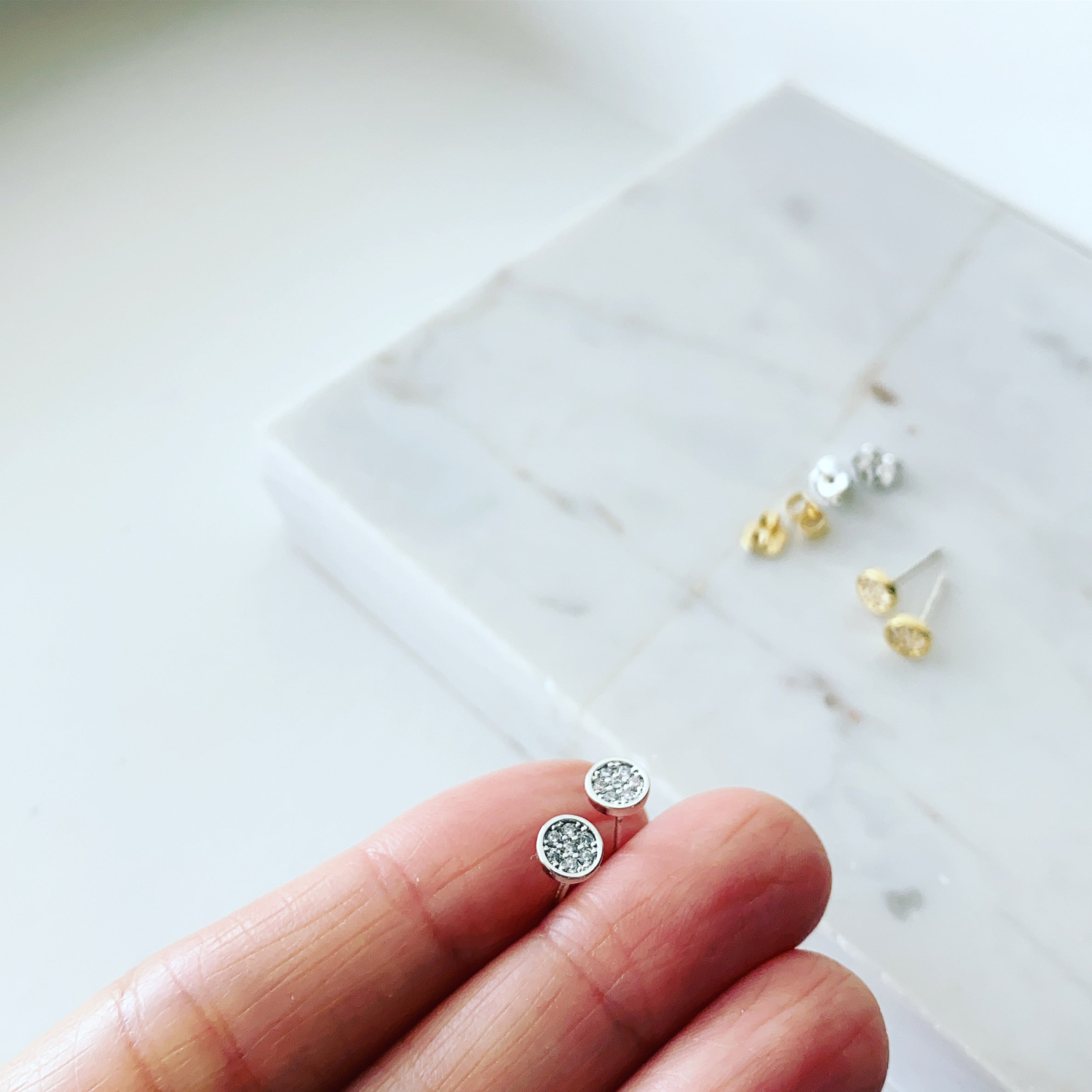 Teeny Disc Earrings