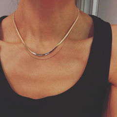 Layered Necklace: Herringbone