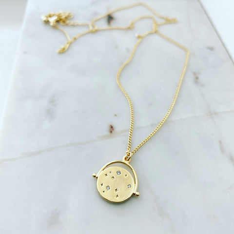 Vintage Stargazing Coin Necklace