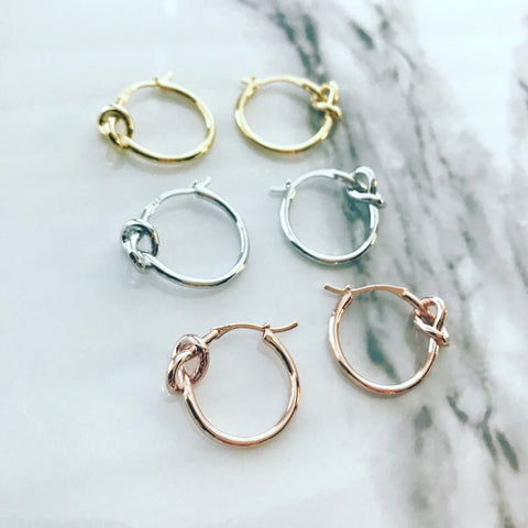 Hoop Earrings: Knot