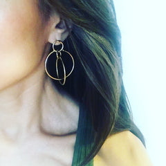 Magical Double Ring Earrings