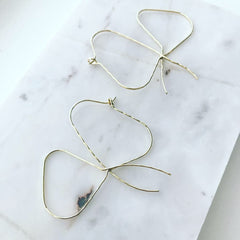 Ribbon Wire Earrings