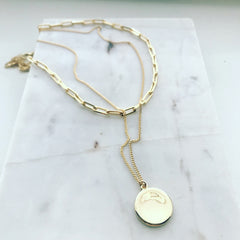Layered Necklace: Coin Nugget