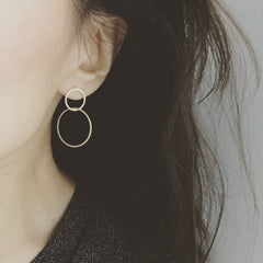 Asymmetric Hoop Earrings