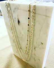 Layered Necklace: Floating Disc Chain
