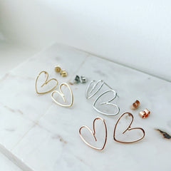 Heart Doodle Earrings