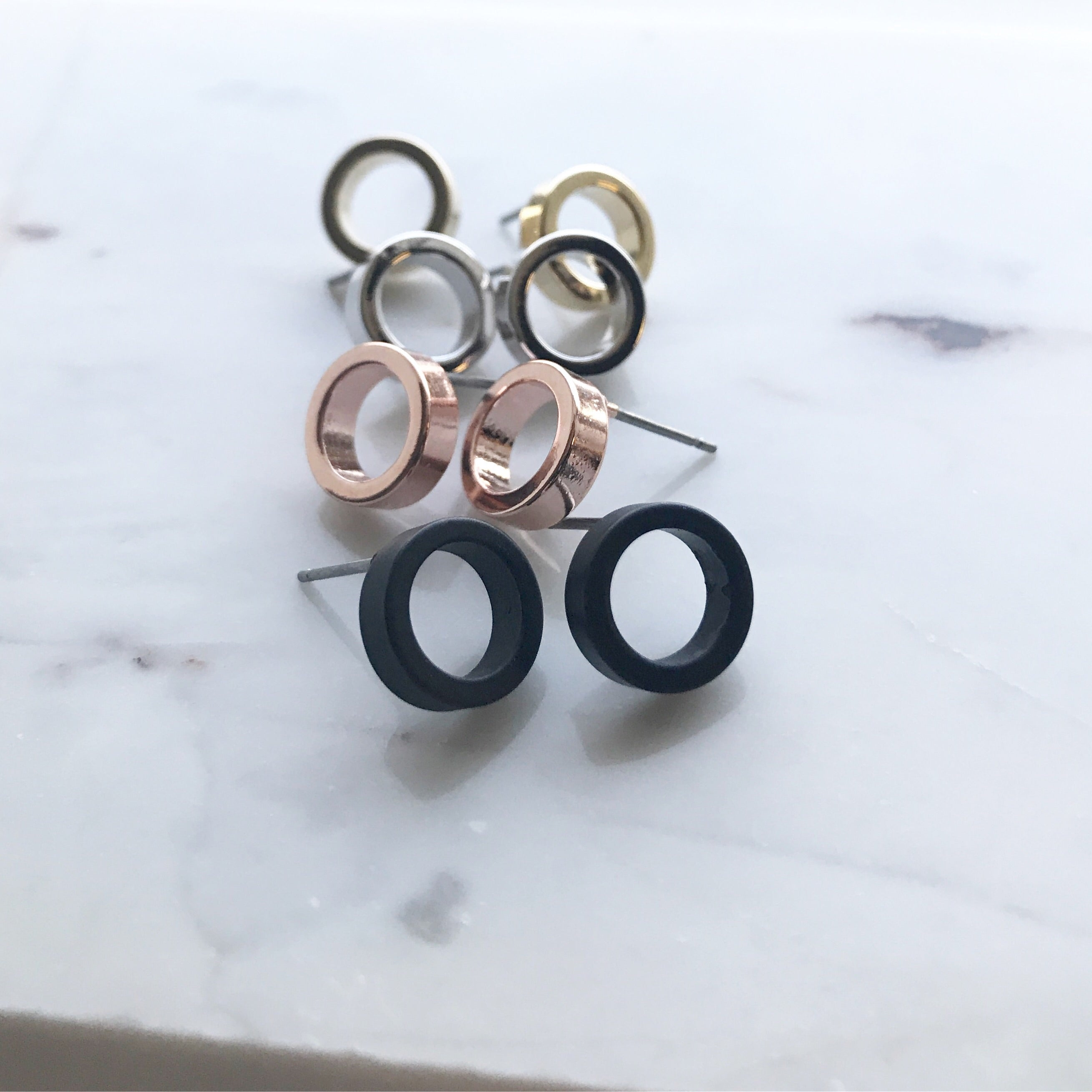 Thick Circle Earrings