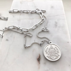 Layered Necklace: Coin Medallion