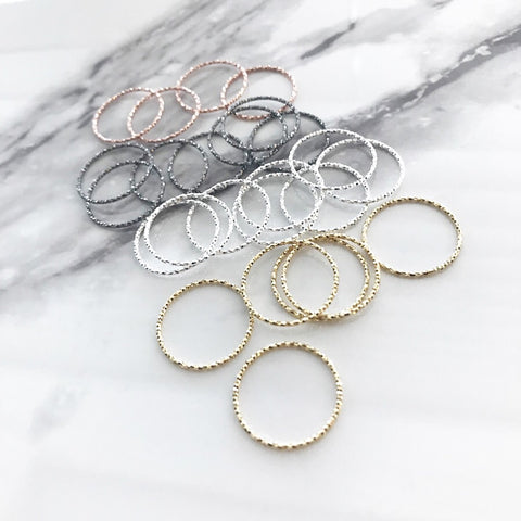 Stacking Thread Ring (sterling silver)
