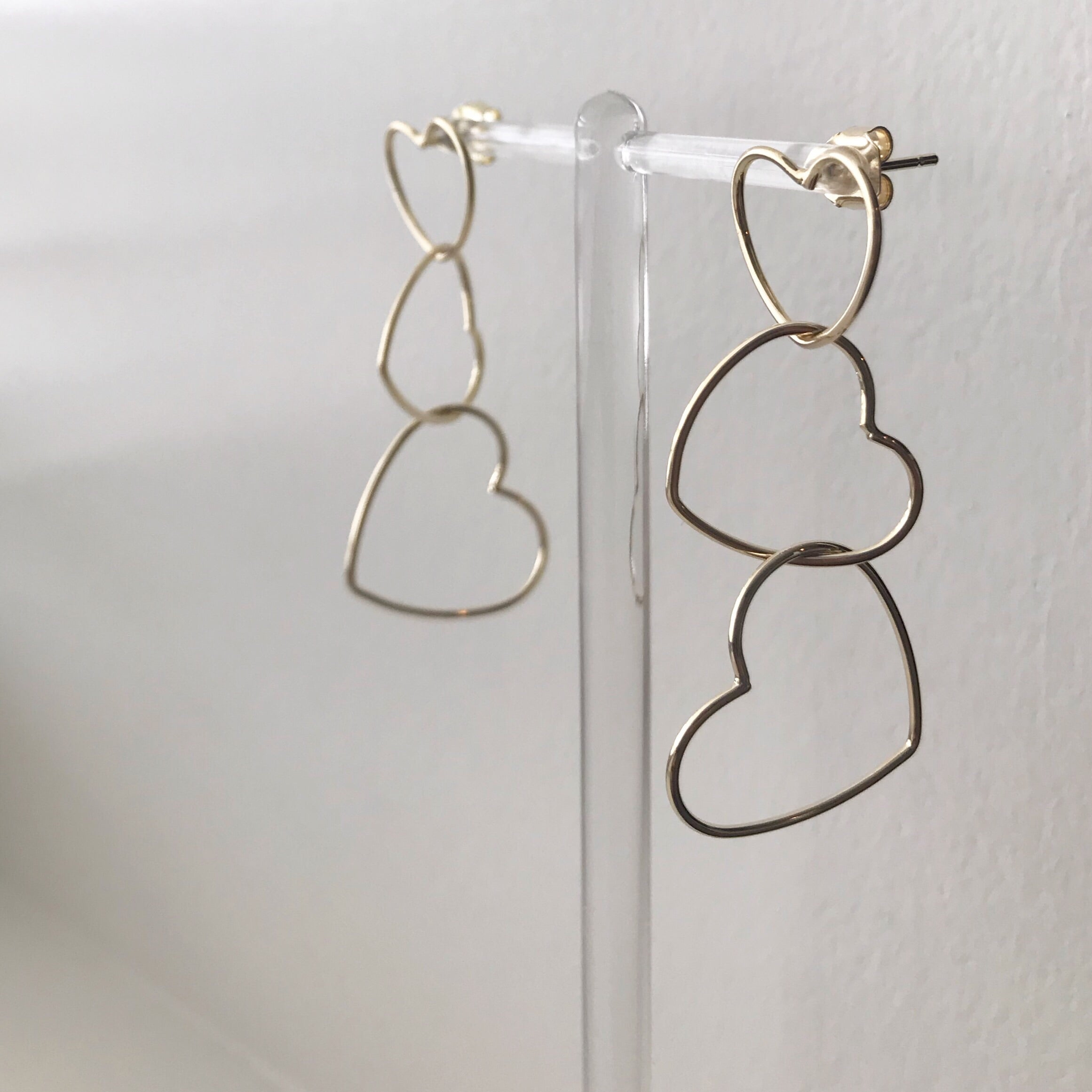 Heart Waterfall Earrings