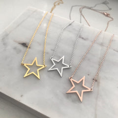 Star Cutout Necklace