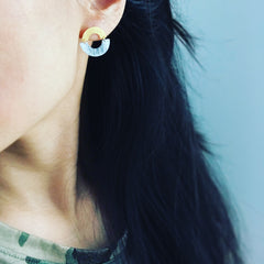 Circle Arch (two-tone) Earrings