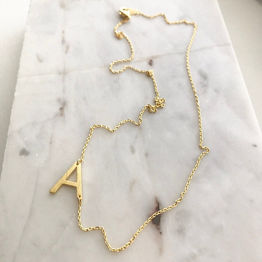 Initial (Slant) Necklace
