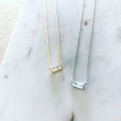 Baguette Solo Necklace