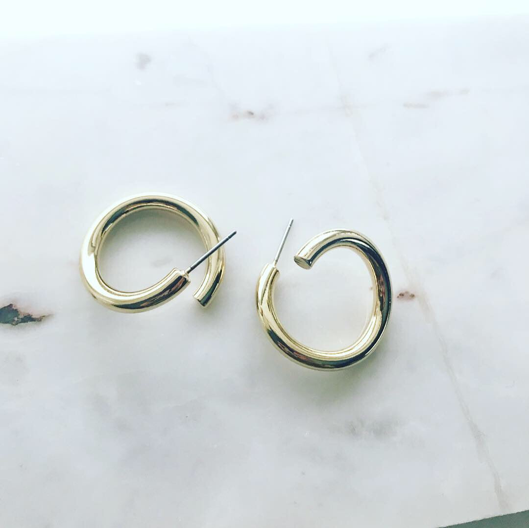 Warped Hoop Earrings