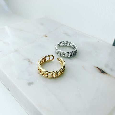 Chunky Chain Rope Ring
