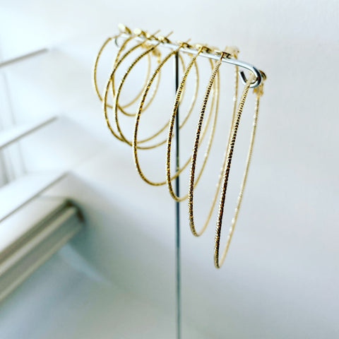 Micro (Diamond Cut) Hoop Earrings