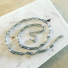 Flat Oval Chain Necklace