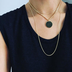 Layered Necklace: Big Medallion