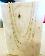 Layered Necklace: Mixed Chain