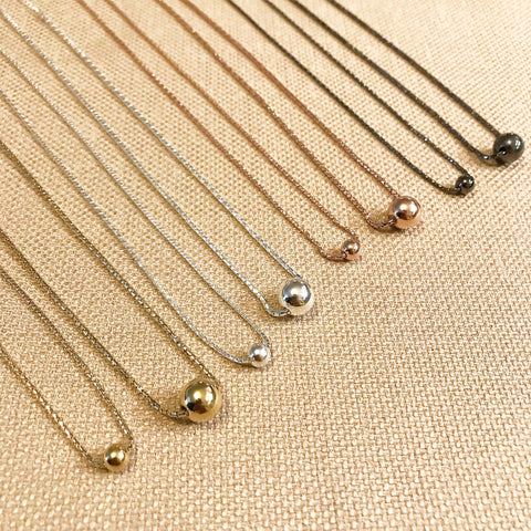 Choker Chain: Ball Pendant