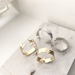Hammered Ora Hoop Earrings