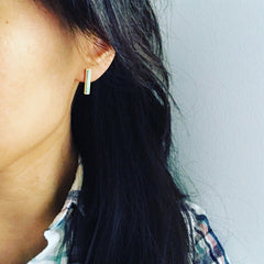 Opal: Bar Earrings